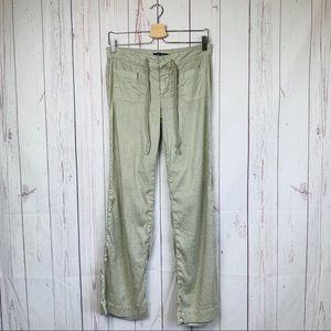 Level 99 Linen Pants Drawstring Wast Front Pocket